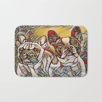 bulldogs Bath Mat by Girly Inspired Gifts