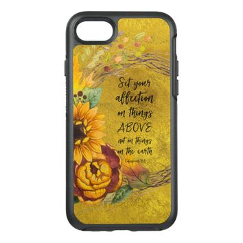 Sunflower with Bible Verse OtterBox Symmetry iPhone 7 Case