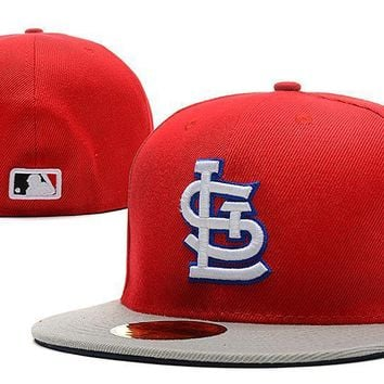 PEAPON St. Louis Cardinals New Era MLB Authentic Collection 59FIFTY Hat Red-Grey