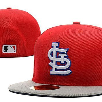 ESBON St. Louis Cardinals New Era MLB Authentic Collection 59FIFTY Hat Red-Grey