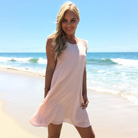 Enchanted Dress In Blush Pink