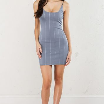Bodycon mini Dress in Taupe and Grey