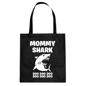 Mommy Shark Cotton Canvas Tote Bag