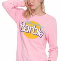 ROMWE | ROMWE Barbie Print Pink Sweatshirt, The Latest Street Fashion