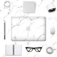 Macbook Decal Skin | Marble Collection - White Marble
