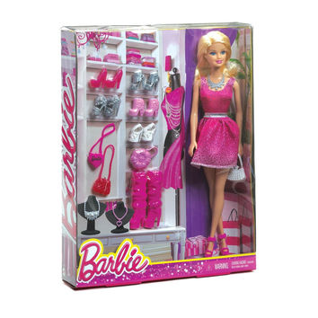 MATTEL BARBIE AND SHOES SET