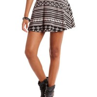 Tribal Cotton Skater Skirt: Charlotte Russe
