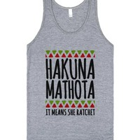 Hakuna MaTHOTa-Unisex Athletic Grey Tank