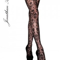 Jonathan Aston Spellbound Lace Baroque Tulle Tights - Tights, Stockings, Shapewear and more - MyTights.com - The Online Hosiery Store