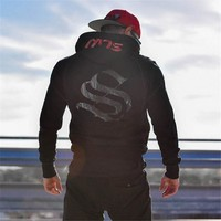 Men Brand Gyms Hoodies Gyms Fitness Bodybuilding Sweatshirt Fashion Pullover Sportswear Male Workout Hooded Jacket Clothing