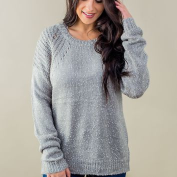Back In Time Sweater- Grey