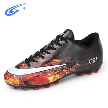 ZHENZU Professional Football Shoes Breathable 2018 Original Sneakers Men FG Outdoor Futsal Cleats Adults Trainers Soccer Boots