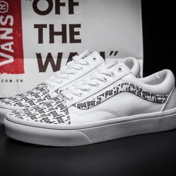 FEAR OF GOD x VANS Old Skool Canvas Flat Sneakers Sport Shoes