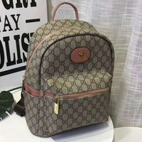 GUCCI counter section fashion trend wild leisure backpack F-AGG-CZDL Pink