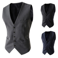 Stripe Slim Fit Men's Vest