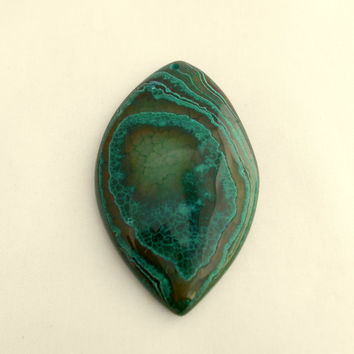 60x36MM, Fire Agate, Green, Pendant Bead, Agate Pendant, Marquis, Gemstone Pendant, Jewelry Supplies