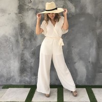 Bel Air Strolling Jumpsuit in Ivory