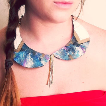 Galaxy Peter Pan Collar by Beatniq on Etsy