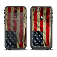 The Dark Wrinkled American Flag Apple iPhone 6/6s LifeProof Fre Case Skin Set