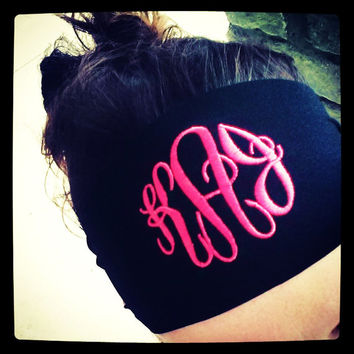Monogram Non Slip Headband Font Shown MASTER CIRCLE