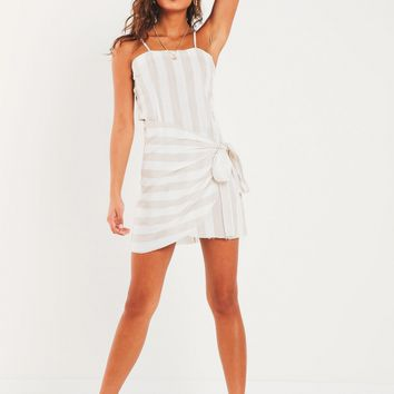 Betti Dress - Beige Stripe