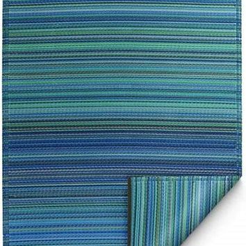 7100 Turquoise 100% Recycled Outdoor Area Rugs