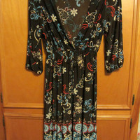 WOMAN'S JUNIOR HYPNTIZED BRAND DRESS LOW V CUT 1X XL BIN FREE SHIP SEXY FLORAL