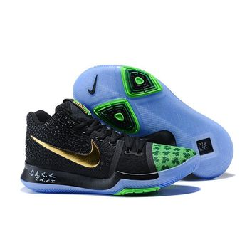 Best Deal Online Nike Kyrie Irving 3 PE Men Basketball Sneaker Shamrock Black Gold Green Sports Shoes