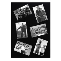 Decorative Black Rectangular Wall Hanging Collage Picture Photo Frame