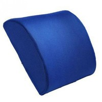 Blue Memory Foam Lumbar Back Support Cushion Pillow for Home Car Auto Seat High Quality