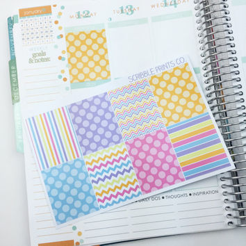 8 Spring Decorative Die-Cut Sticker Squares // (Perfect for Erin Condren Life Planners)