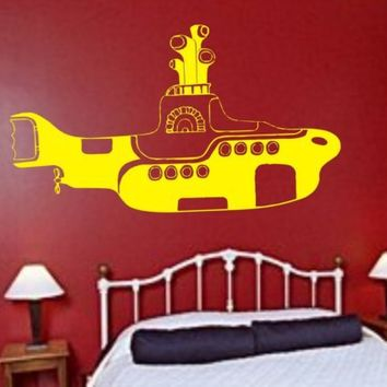 THE BEATLES Yellow Submarine decal sticker by dabbledownJunior