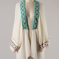 Embroidered Mesopotamian Princess Kimono - PRE ORDER