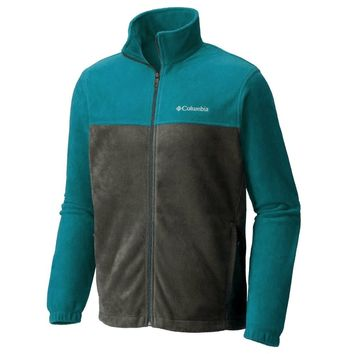 Columbia Two Tone Colorblock Mens Original Winter Fleece Jacket