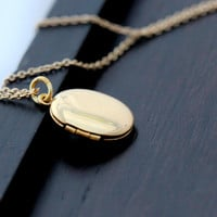 Gold Filled Locket Necklace