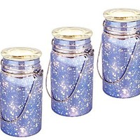 Set of 3 Indoor Outdoor Hand Blown Mercury Glass Mason Jars by Valerie — QVC.com
