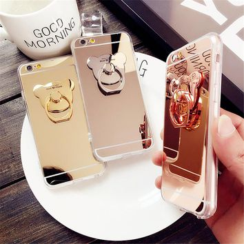 Bear Holder Phone Cases for iPhone