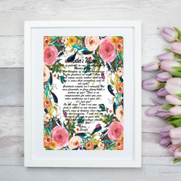 Personalized Mom Art Print, Digital Mother Poem, Personalized Mom Poem Gift, Mother's Day Wall Art Gift, Mom Floral Wall Art, Mother Poem