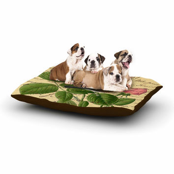 "Suzanne Carter ""Vintage Dream"" Floral Script Dog Bed"