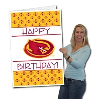 Iowa State University 2'x3' Giant Birthday Greeting Card Plus Yard Sign