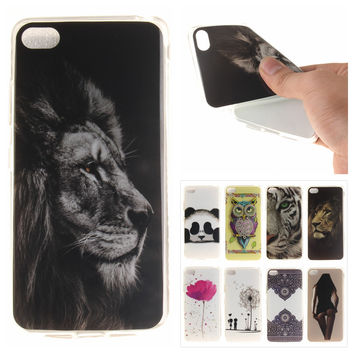 Silicone Phone Case for Lenovo S90 Coque Vintage Floral Tiger Lion Panda Soft TPU Back Cover for Lenovo Sisley S 90 S90T S90U