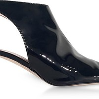 Christopher Kane Black Patent Leather Open Back Booties