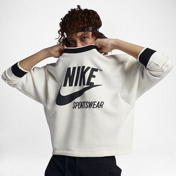 NIKE Women Casual Sport Top Sweater Pullover Sweatshirt