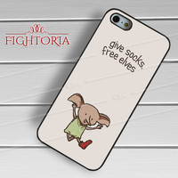 Harry potter Dobby cute free elf -SrnD for iPhone 4/4S/5/5S/5C/6/6+,samsung S3/S4/S5/S6 Regular/S6 Edge,samsung note 3/4