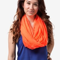 Boston Neon Orange Infinity Scarf | Infinity Loop Scarves | Scarves.com