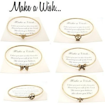 Make a Wish Bracelet in Antique Style, Gift-Boxed
