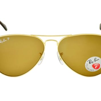 Ray-Ban RB3025 Aviator Classic 001/57 Gold Frame/Polarized Brown Classic B-15