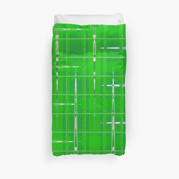 'Green Vibes' Duvet Cover by MarkUK97