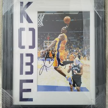 kobe bryant autographed photo  number 1