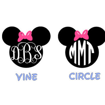Minnie Mouse Ears, Name PERSONALIZED,Monograms Disney Magic Band ,Monograms Disney Decals ,Minnie Mouse Car Decal Disney,Disney Vacation,